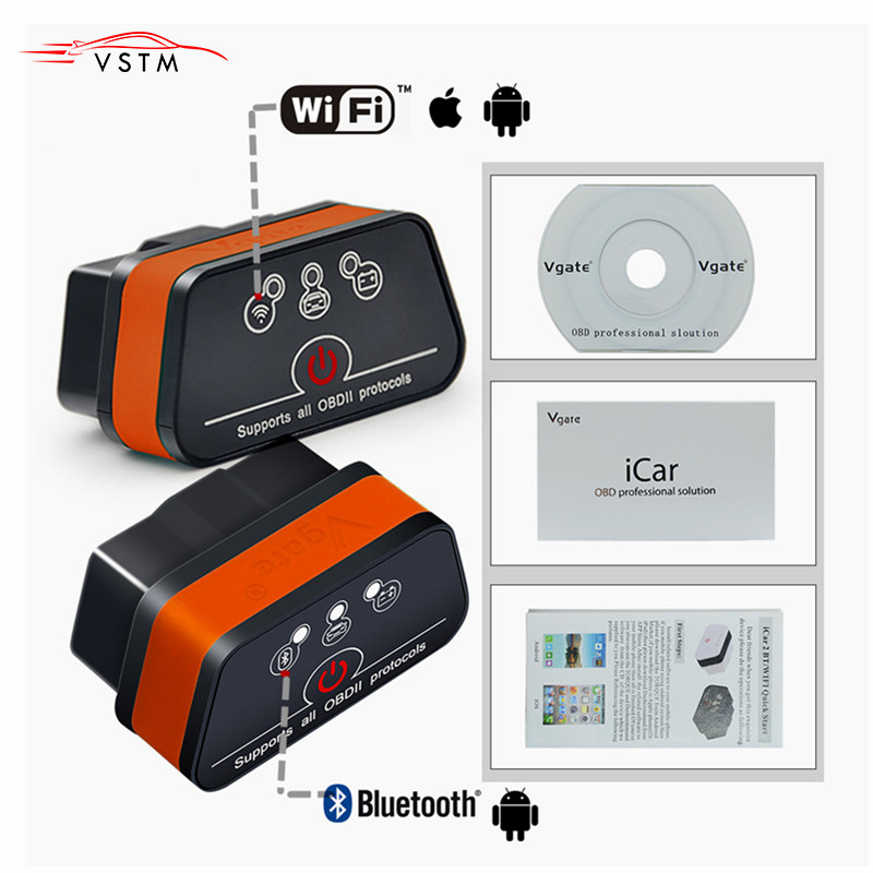 2019 Vgate iCar 2 Bluetooth/Wifi Version ELM327 OBD2 Code Reader iCar2 Für Android/PC