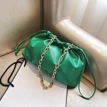 Fashion Chain Strap Women Dumplings Bag Designer Day Clutch Women Shoulder Crossbody Bag Retro Hobos Women Design Hand Purses fashion women s clutch bag with engraving and stitching design