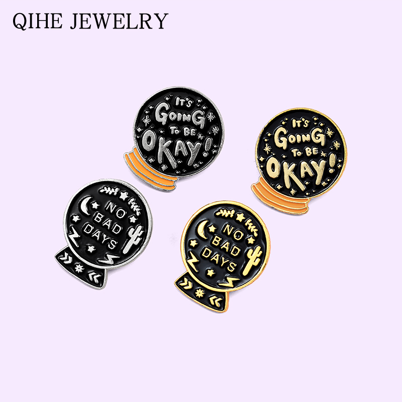 Black Crystal Ball Magic Pin Badges.New With Freepost.4 Badge Collector Set.