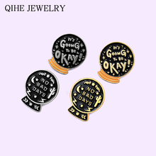 Black Magic Crystal ball Enamel Pins No bad days Custom Brooches Wholesale Badge Witch Gothic JewelryLapel Pin For Women Men