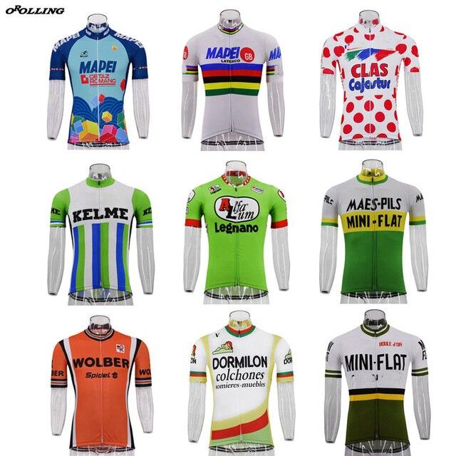 Лидер продаж, новые классические профессиональные футболки для велоспорта в стиле ретро