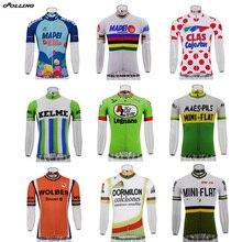 多種類のホット新古典派レトロプロチームマイヨサイクリングジャージカスタマイズ Orolling トップス