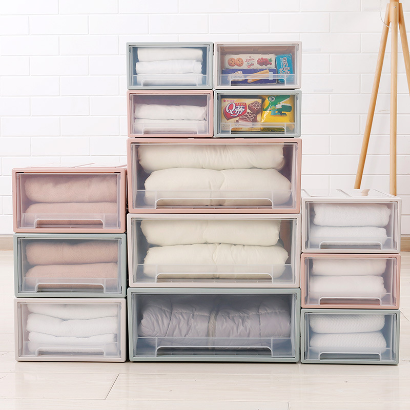 High Capacity Clothes Drawer Organizer and Transparent Clothes Storage Box for Towel