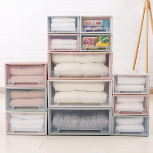 Clothes Storage Box High Capacity Case Plastic Storage Box Drawer Type Underwear Bra Socks Tie Thickened Home Drawer Organizer