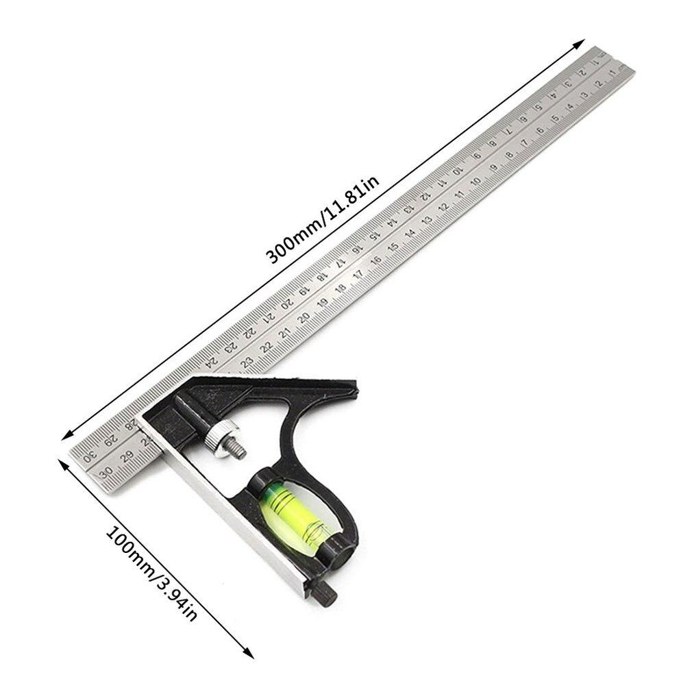300 мм регулируемый Комбинации квадратный угловой измерительный прибор 45/90 градусов с пузырьковым уровнем для спускового механизма Многофункциональный измерительный прибор измерительный инструмент