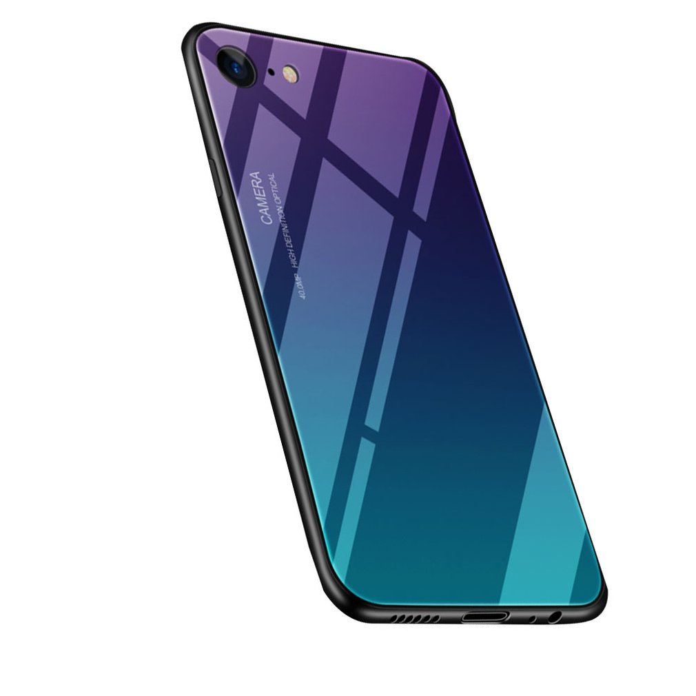 Gradient Tempered Glass Phone Case Cover Shell For Iphne/Huawei/Samsung/Redmi Luxury
