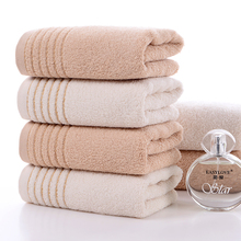 Simple fashion style natural cotton towel high quality thickened soft absorbent towel adult pure cotton face wash towel