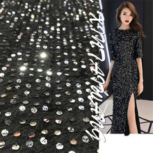 Discount explosions plush fabric bottom 6mm sequined fabrics Womens dress evening gown costumes and other accessories