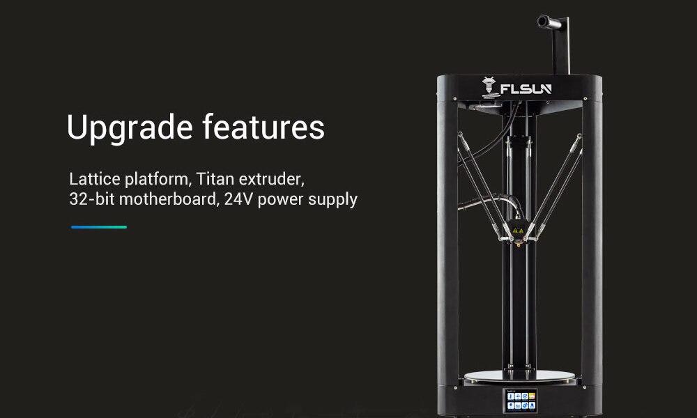 Flsun QQ S PRO Delta Kossel Auto-Level Upgraded 3D Printer