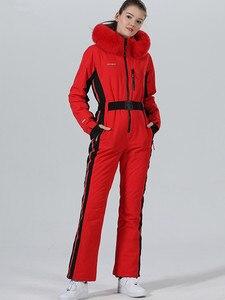 Image 4 - חורף סקי חליפת נשים חורף מעיל נשי מעיל סנובורד סקי ספורט חליפת סנובורד סקי סרבל חם