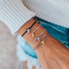 Boho Ox head hand chain for Women Fashion Black White Wax String Lacing Bracelets Jewelry Beads Bracelet Beach