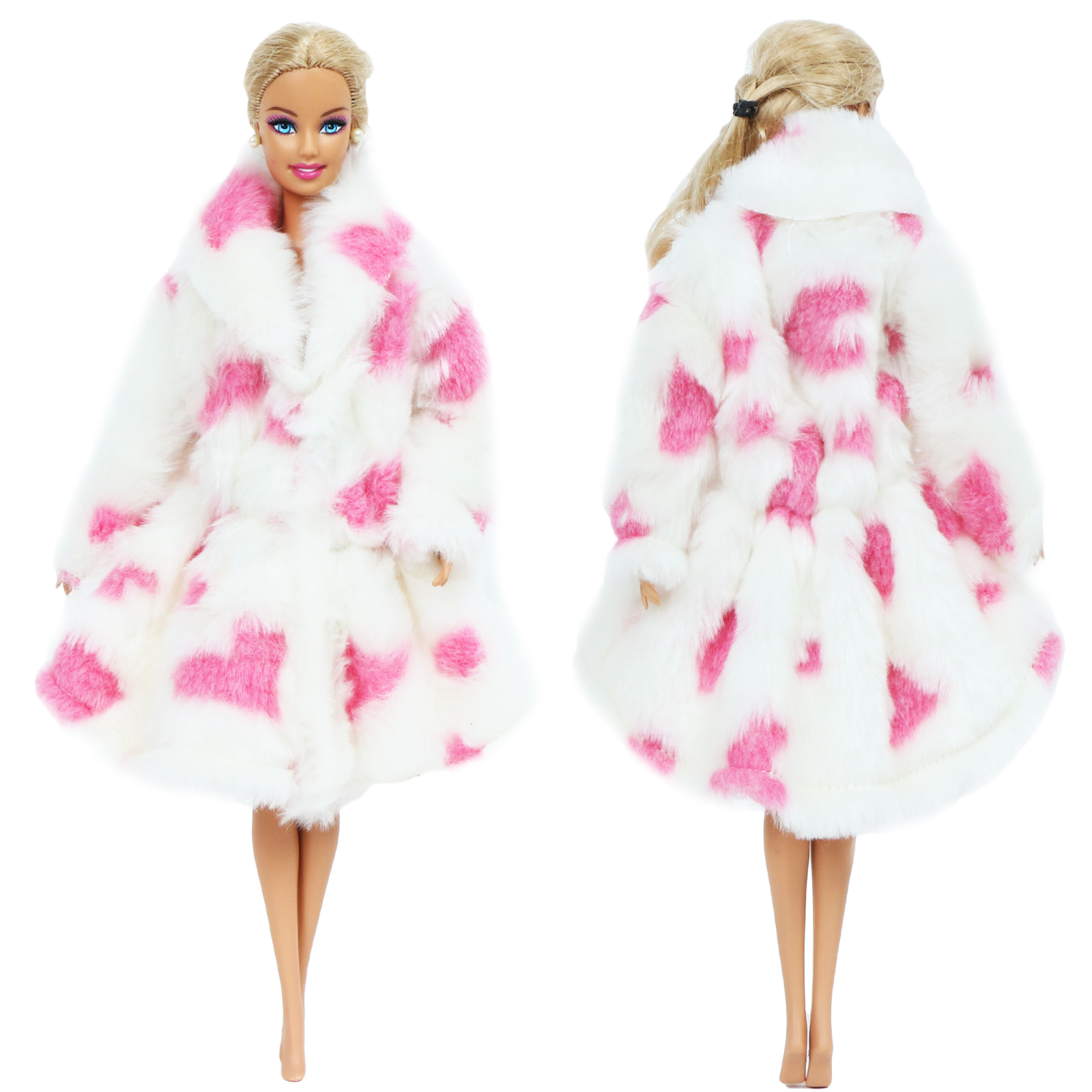 Doll Accessories Set Winter Super Long Fur Coat Fashion Clothes For 11.5in Doll