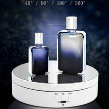 3 скорости электрический Вращающийся дисплей Стенд Зеркало Поворотный стол держатель ювелирных изделий батарея