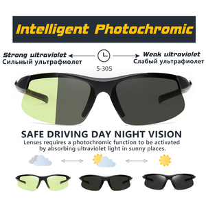 Image 4 - 브랜드 야외 스포츠 Photochromic 선글라스 남자 Polarized Day Night Vision Sun Glasses 레이디 운전 고글 lentes de sol hombre