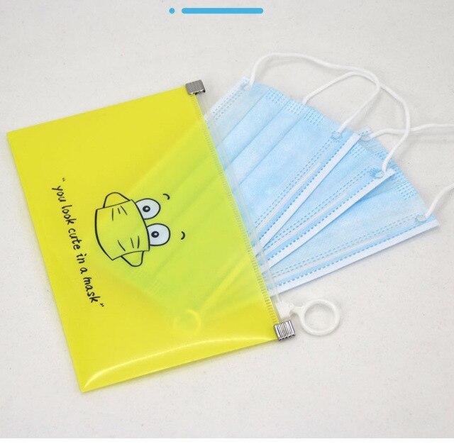 1/4/8 pcs Masks Cover Bag Portable Disposable Mask Storage Bag Facemask Holder Face Mask Organizer Box Cartoon Case Mask Boxes 3