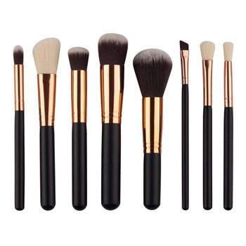 Bronze color 8ps Makeup Brushes Set for Powder Blush Foundation Eyeshadow Concealer Lip Eye Make Up Brush Cosmetics Beauty Tools 10pcs makeup brushes set foundation powder blush eyeshadow concealer lip eye make up brush cosmetics beauty tools