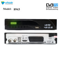 Vmade DVB T2 digitai Decoder Terrestrial TV receiver with TV Scart DVB T2 8943 H.265 support Dolby AC3 Youtube HEVC set top box