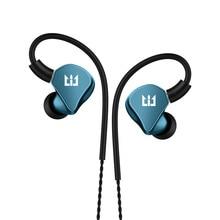 TRI I4 1BA + 1DD hybride dans loreille écouteurs en cours dexécution Sport technologie HIFI bouchon doreille avec 3.5mm MMCX écouteurs
