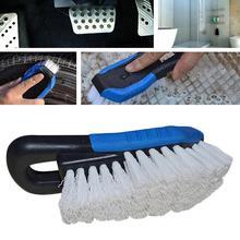 цена на Car cleaning brush Upholstery Cleaner Car Truck Vehicle Wheel Tire Washing brush Pedal Foot Mat Cleaning Brush Tool car brush