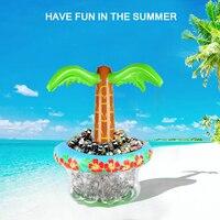 Aufblasbare Eis Eimer Coconut baum Trinken Halter Obst Eis Wasser Eimer Hochzeit Geburtstag Strand Party Versorgung Pool Zubehör