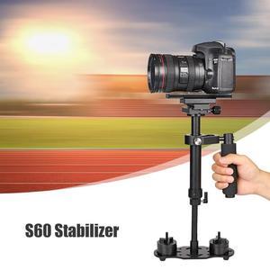 Image 3 - S60 mini estabilizador de mão, para câmera de vídeo, anti balanço, steady, para dslr, acessórios para câmera de fotografia, estabilizadores, adereço de câmera