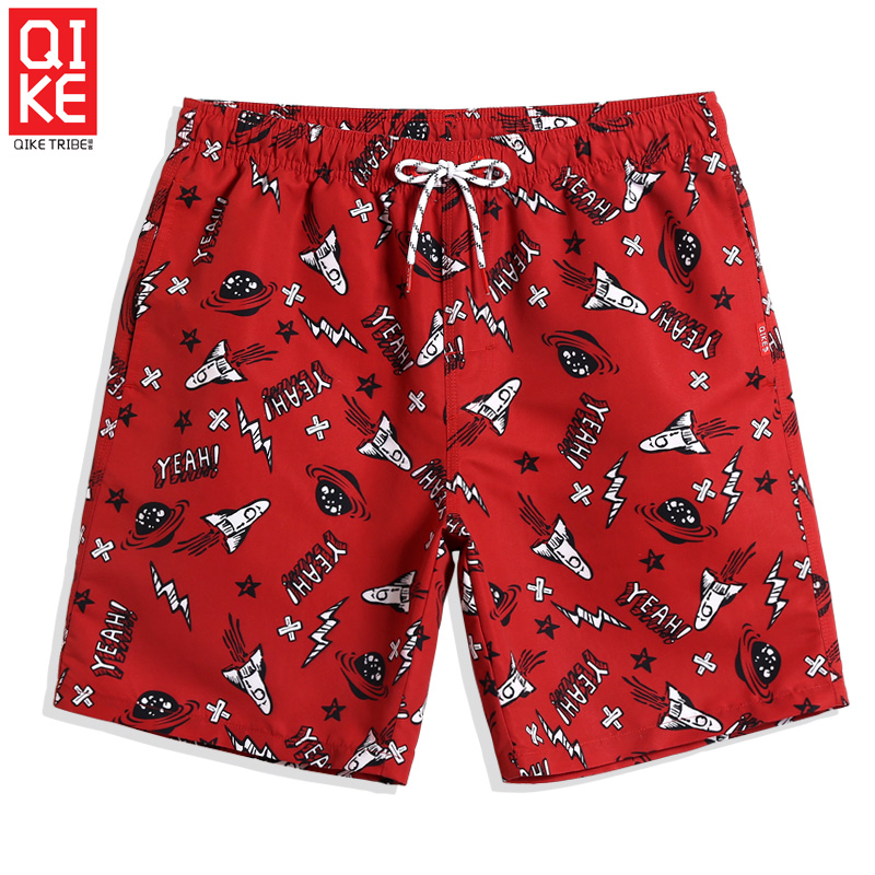 QIKE Men's Swimming trunks plane quick dry surfing swimsuit   Board     shorts   sport de bain homme briefs swimwear Beach   shorts   sexy