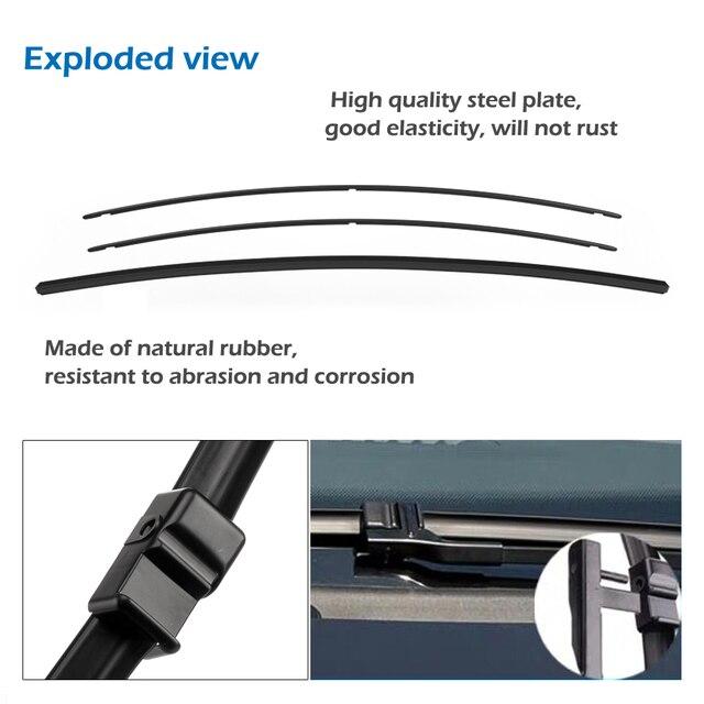 شفرات ممسحات MIDOON لـ Volkswagen Sharan Fit أذرع بخطاف متينة/أذرع بمسامير جانبية/زر ضغط موديل سنة من 1995 إلى 2018