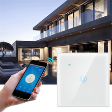 Ubaro Crystal Glass Tuya Smart Home Switch Alexa Voice Control Wall Light Touch Switches Interruptor Wifi 1/2/3 Gang Ac100-240V