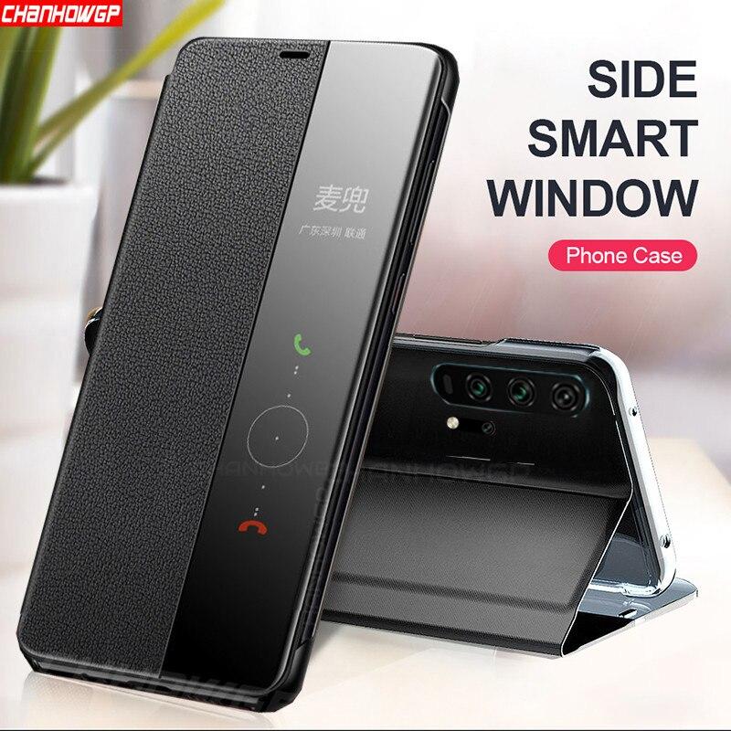 Умный зеркальный кожаный флип чехол для Huawei Honor 30S 20S 20 30 Pro Plus 9A 9S 9C 9X Lite 10i 10 Lite 8X Прозрачный чехол для книги|Бамперы|   | АлиЭкспресс