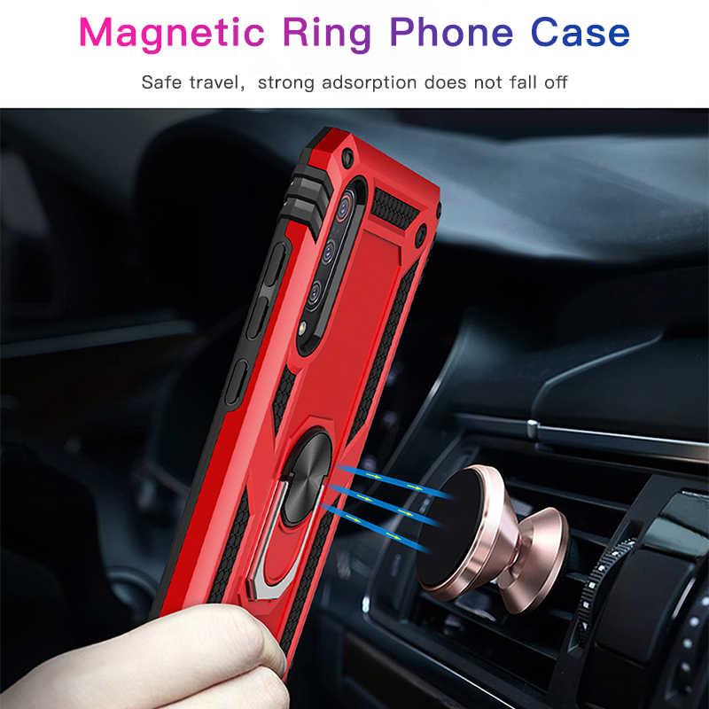 ! ACCEZZ Luxo Ímã Suporte Do Telefone Capa Xiaomi Redmi Nota 7 Anel Titular Do Telefone Móvel Shell Fundas Tampa Traseira Magnética capa