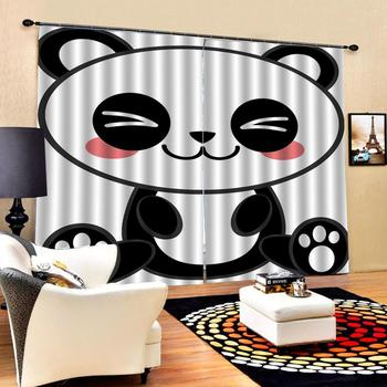 lovely animal curtains European Curtains Photo Painted 3D Curtain Living room Decoration curtains