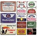 Corona Metall Zinn Zeichen Vintage Bier Poster Dekorative Platte Retro Bar Küche Home Wand Decor Plaque Wand Aufkleber