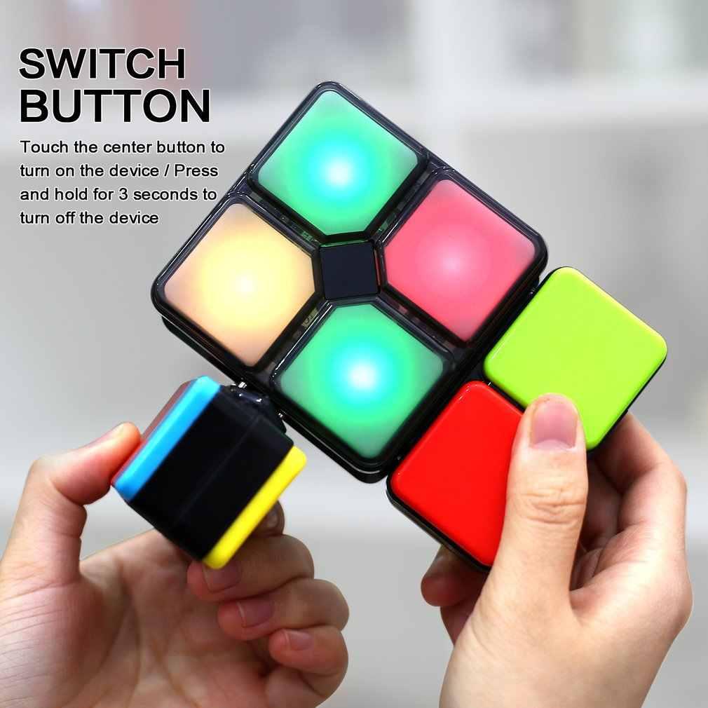 4 ゲームモードマジックキューブフリップスライドキューブパズルおもちゃでライト速度レベルメモリ多人数モード電子教育おもちゃ