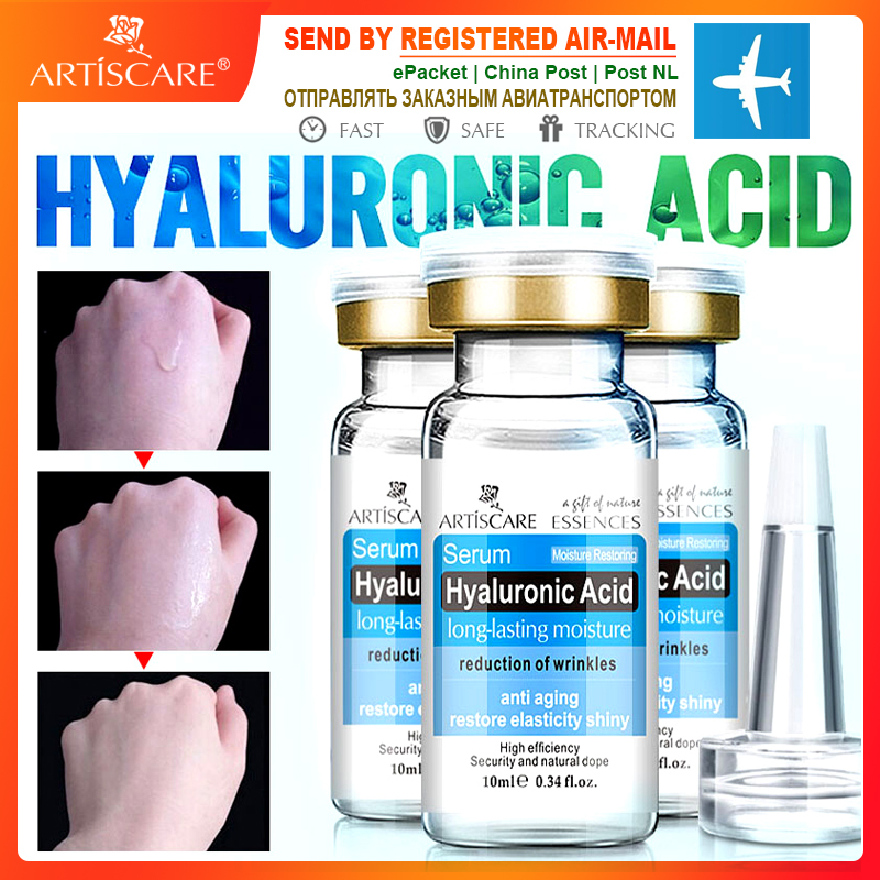 ARTISCARE Hyaluronic Acid Serum 3pcs HA Essence Whitening Repair Skin Care Anti-Aging Wrinkle For Face Moisturizing Facial Cream