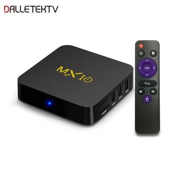 MX10 Smart TV Box RK3328 Quad Core 4GB RAM 64GB ROM 2.4G WIFI 100M 4K TV BOX Android 9.0 USB 3.0 H.265 Smart Set Top Box