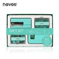 Conjunto con caja de regalo para oficina, grapadora y dispensador de cinta, Clip y Clips de papel, conjunto para regalo, papelería, Color Azul Marino