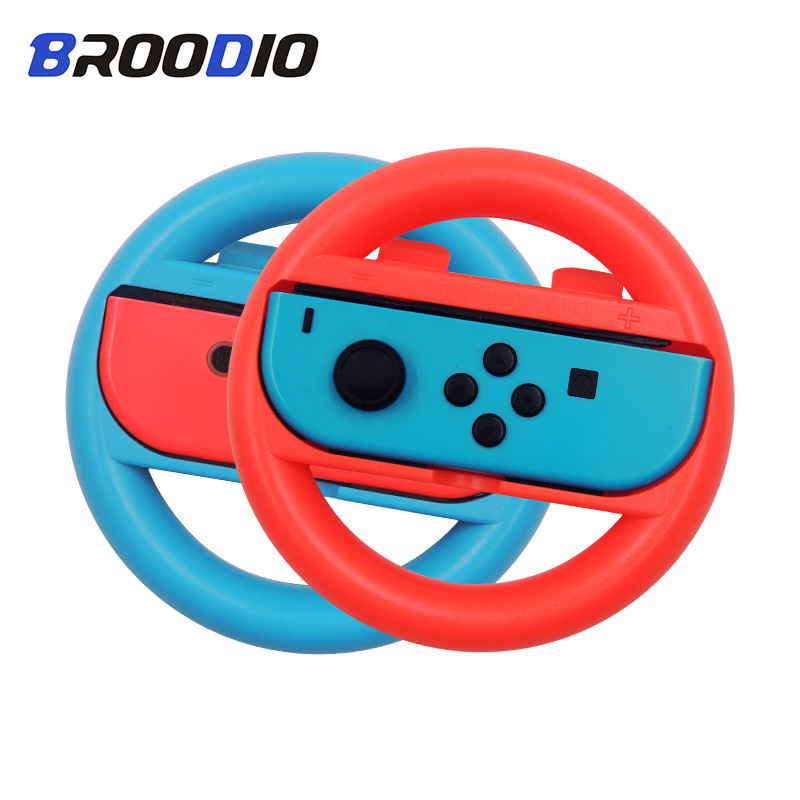 2PCS Nintendo Switch NS Steering Wheel For Nintend Switch Joy Con Controller Accesorios PC Game Racing Steering Wheel Controller