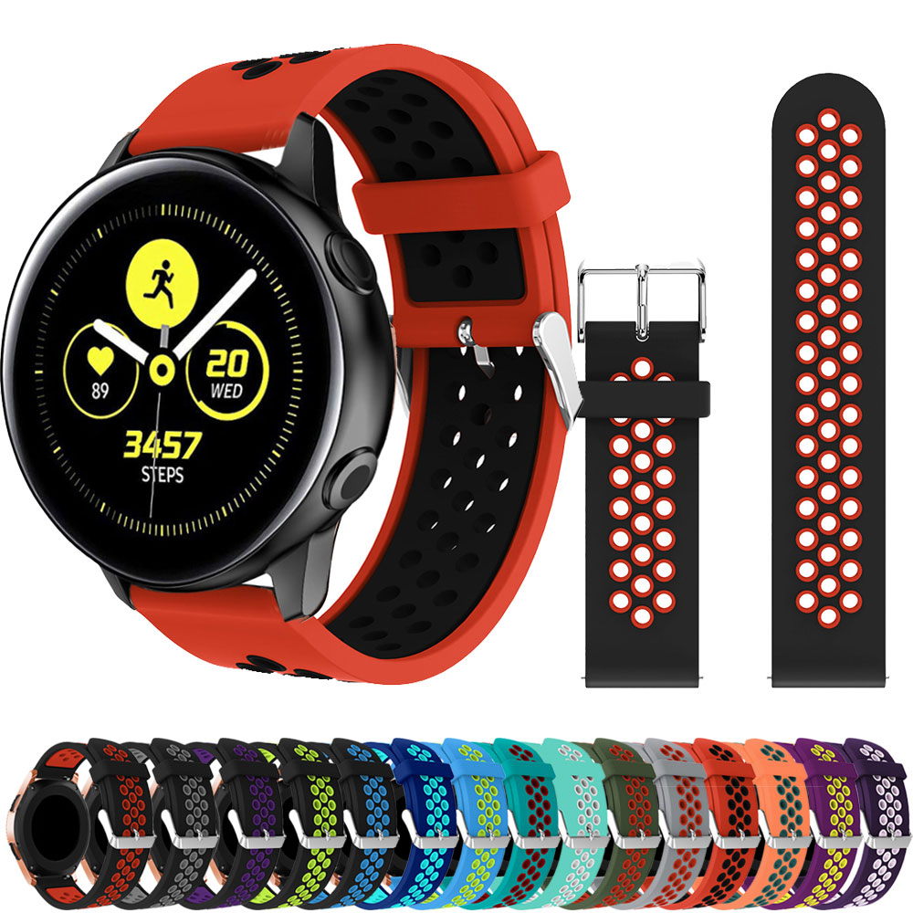 20mm Silicone Strap Band For Huawei Amazfit Samsung Galaxy 42mm Active2 40mm Watch WatchBand Strap For Amazfit Pace Smart Watch