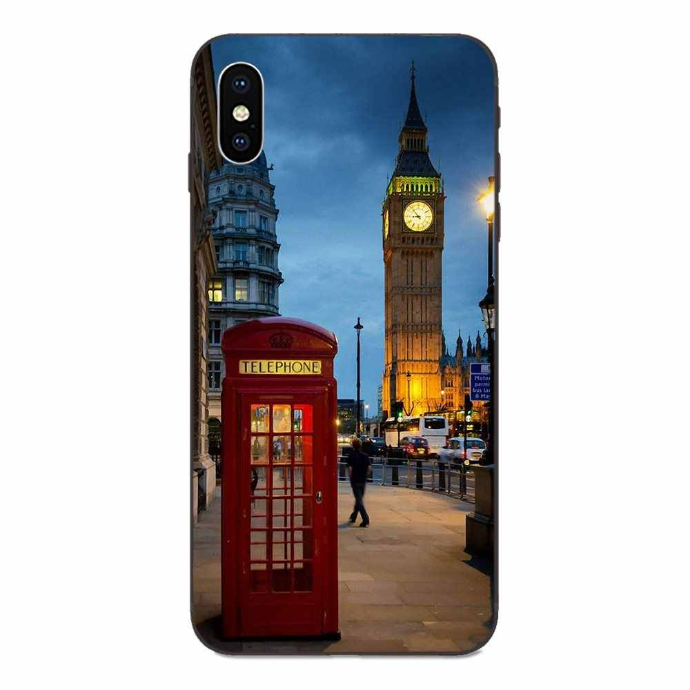 London Big Ben With Aluminum Frame For Galaxy A8 A9 Star Note 4 8 9 10 S3 S4 S5 S6 S7 S8 S9 S10 Edge Lite Plus Pro G313