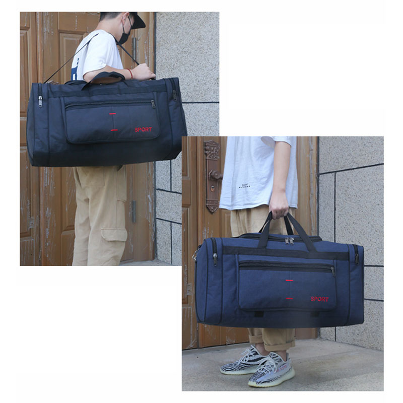 Gym-Bag Duffle Travel Gym Training Black Waterproof Outdoor Weekend 29-Inches Large-Capacity