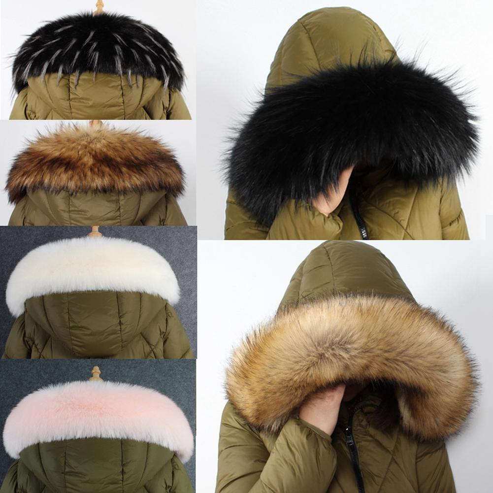 10 Colors Winter Warm Fur Collar Warm Scarf For Women Coat Detachable Faux Fox Fur Sarf Collar Hat Accessories Gift