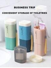 Коробка для хранения зубной щетки дорожная чашка мытья мультяшный