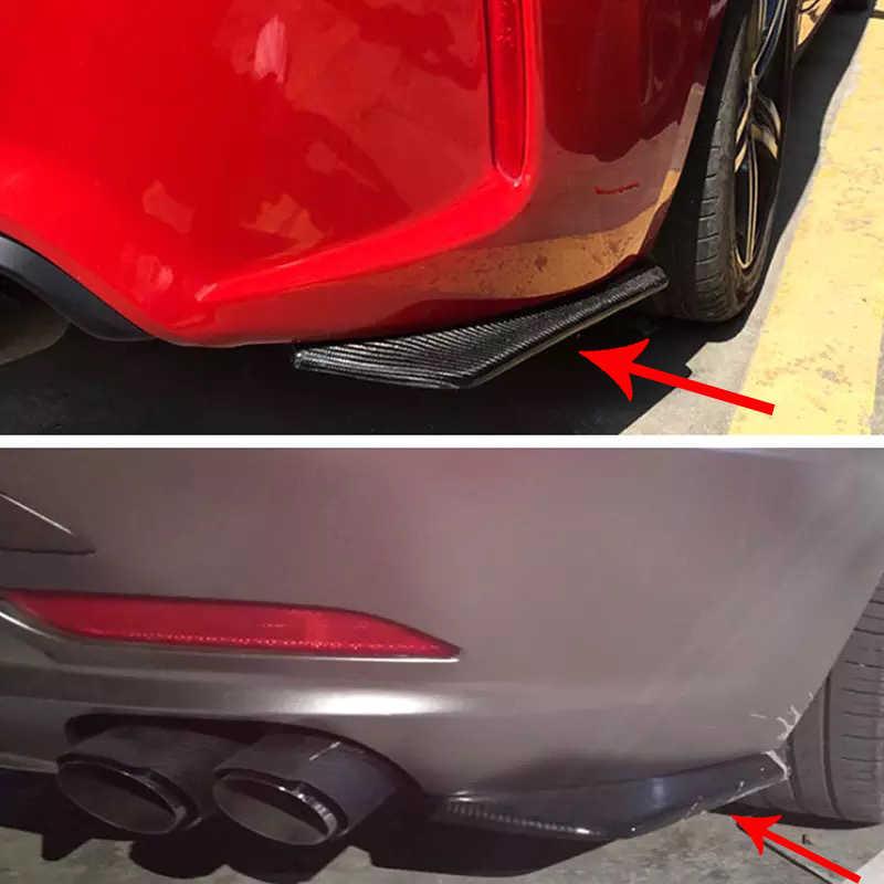 Fibra de carbono carro spoiler fender envoltório ângulo para volvo s60 xc90 v40 v70 v50 v60 s40 s80 xc60 xc70 nissan qashqai X-TRAIL juke tiid