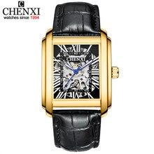 CHENXI – montres de luxe pour hommes, horloge automatique lumineuse, étanche, mécanique, Tourbillon