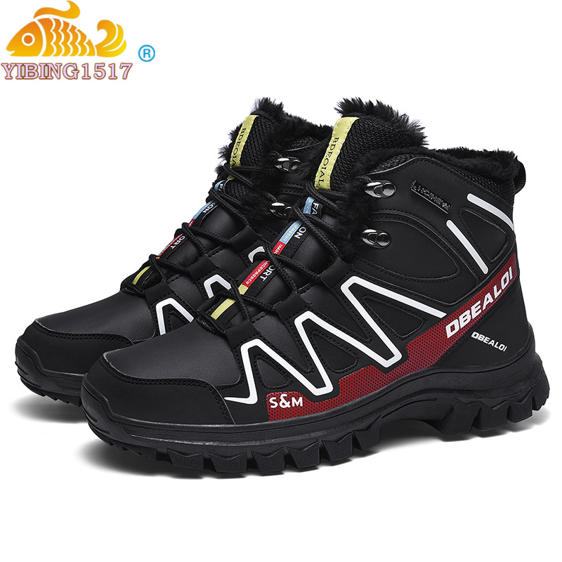 2019 Men Boots Winter Plush Warm Snow Boots Casual Men Winter Solomon Hiking Shoes Men Footwear Ankle Boots Zapatos De Hombre
