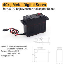 Waterproof 40kg 30kg Metal Digital Servo for RC 1/5 Redcat HPI Rovan Team losi Baja 5B Buggy Monster Helicopter Robot 5b front macadam wheels set for 1 5 baja 5b baja parts free shipping