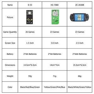 Image 2 - Tetris باليد لعبة لاعب LCD الإلكترونية لعبة اللعب جيب لعبة وحدة التحكم الكلاسيكية الطفولة للهدايا