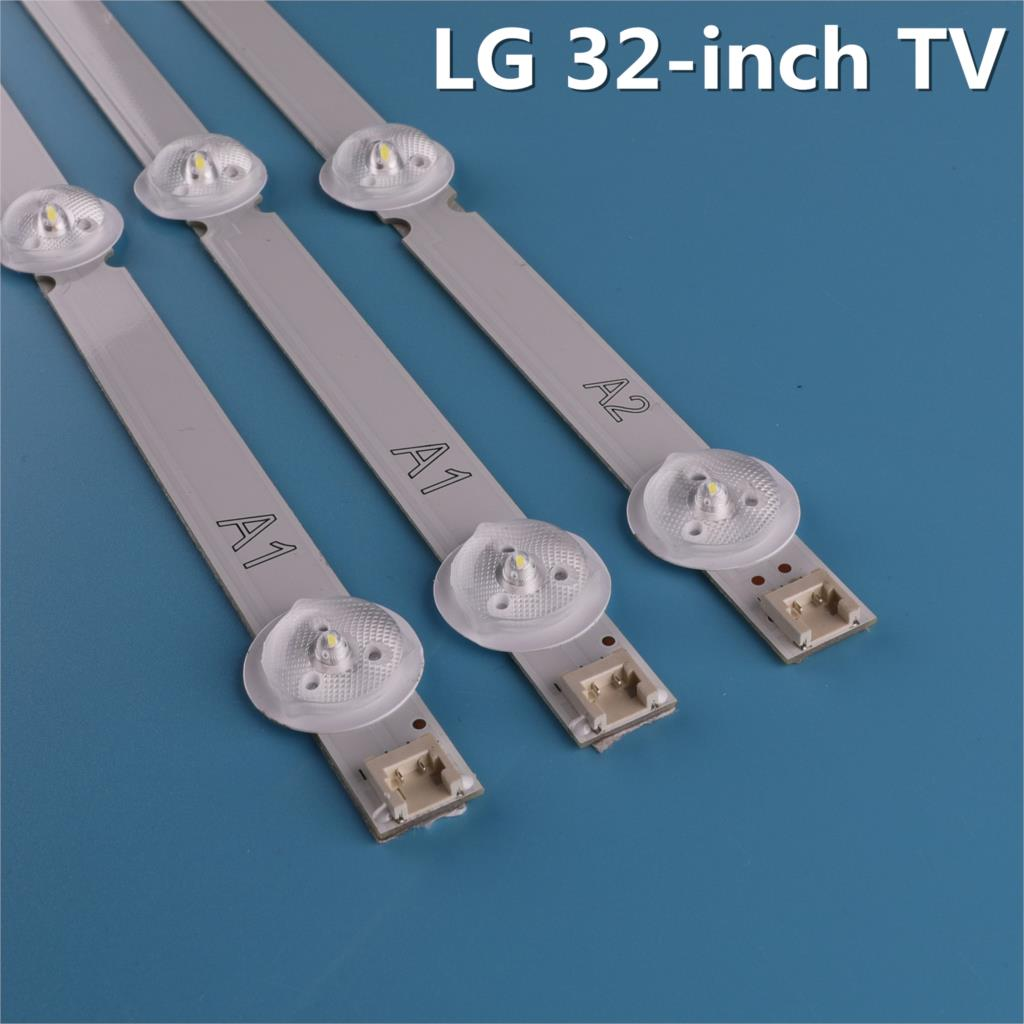 3 Pieces/set 63cm A1 A2 LED Backlight Lamps Strips Bar For LG 32