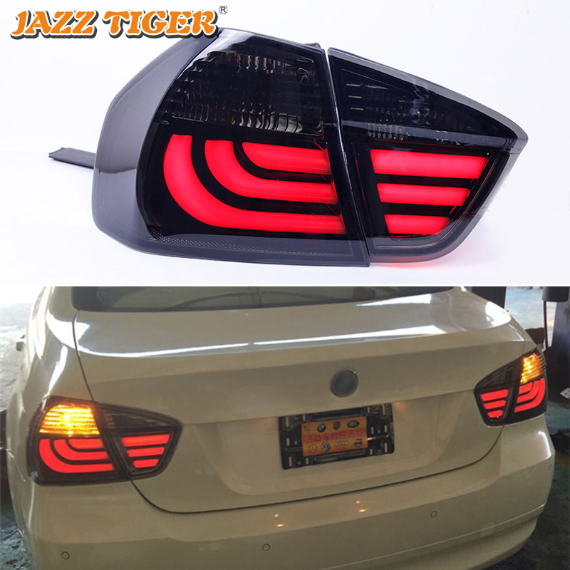Car LED Tail Light Taillight For BMW E90 318i 320i 325i 2005 - 2012 Rear Fog Lamp + Brake Light + Reverse + Turn Signal image