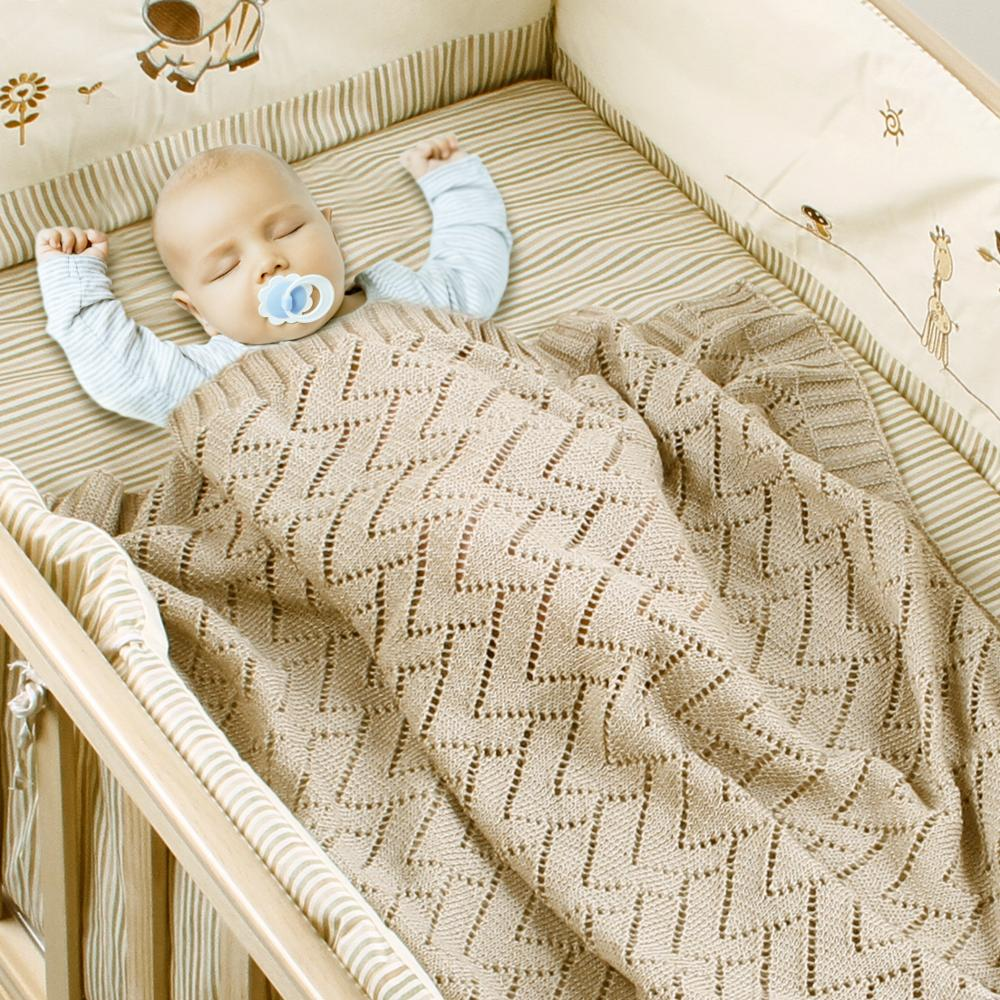 Baby Blankets Newborns Fashion Candy Color Infant Bebes Swaddle Wrap Blanket Kids Girl Boy Stroller Covers 100*80 Knitted Quilts